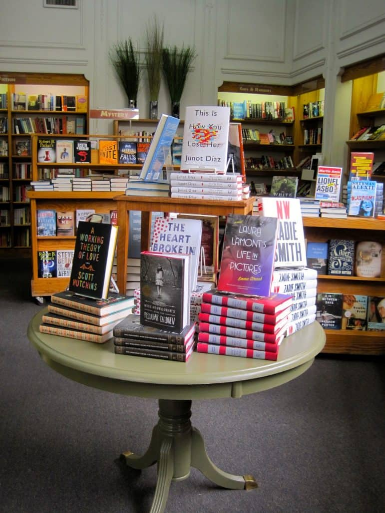 book display at Left Bank Books