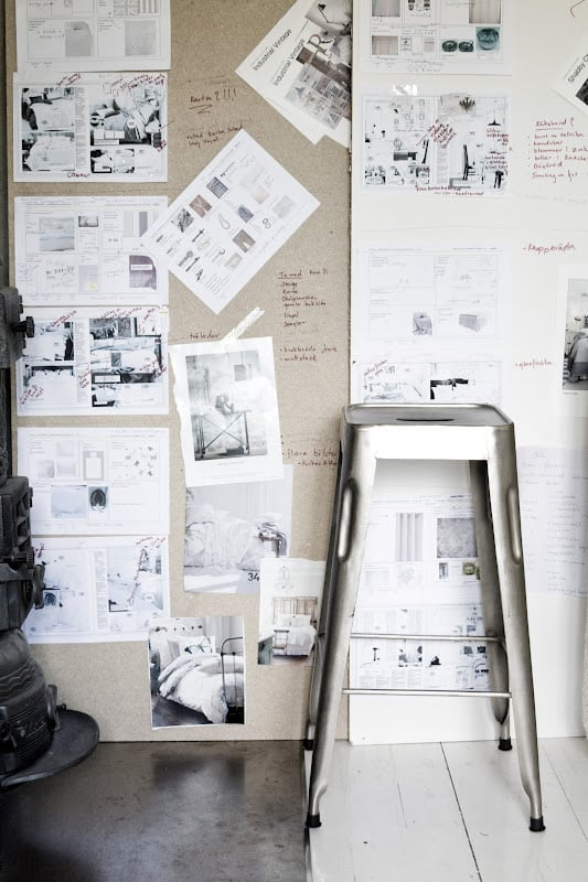 magnetic paint wall for inspiration and notes