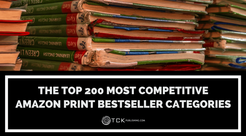 most competitive categories on amazon for print books