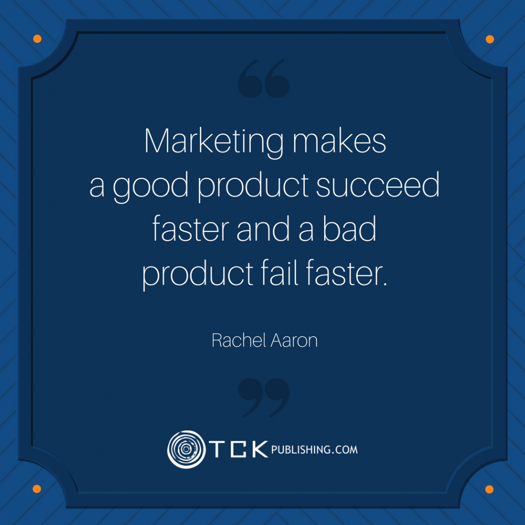 Aaron Rachel Quote on Marketing