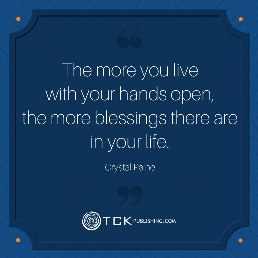 Crystal Paine quote on blessings
