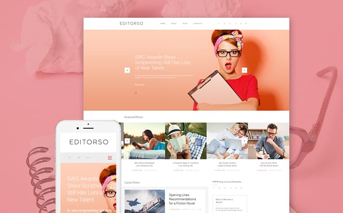 editorso wordpress author theme