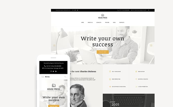 house press publishing company wordpress theme