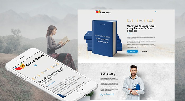 the good book motocms author website template