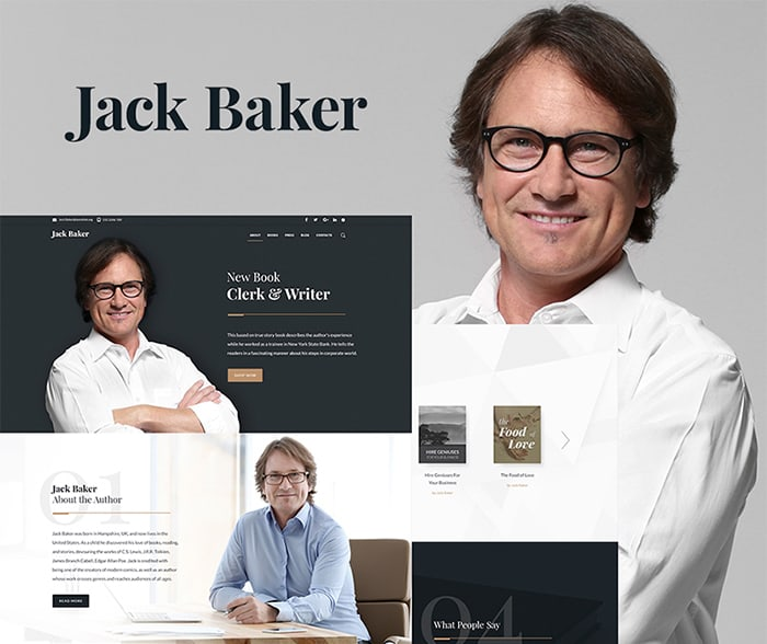jack baker author website template