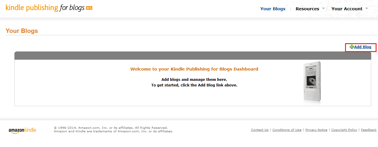 adding your blog feed to kindle