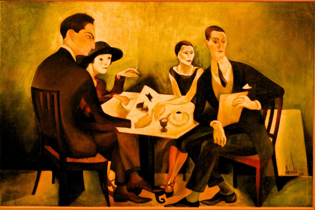 networking for writers painting by José Almada Negreiros