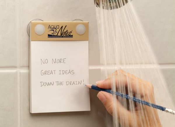 aquanotes shower notepad