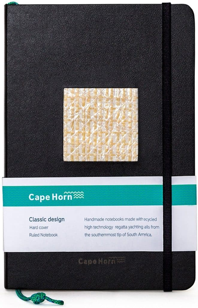 cape horn sail handmade notebook