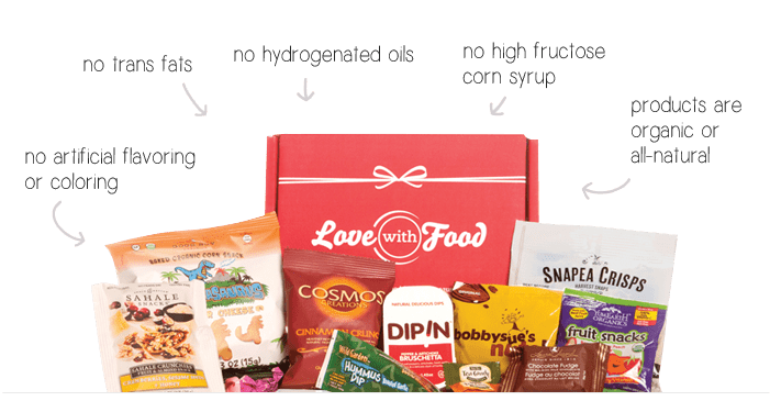 lovefood healthy snack subscription box