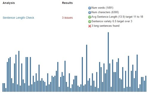 writing sentence length report tool