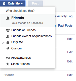 FB Privacy Settings image
