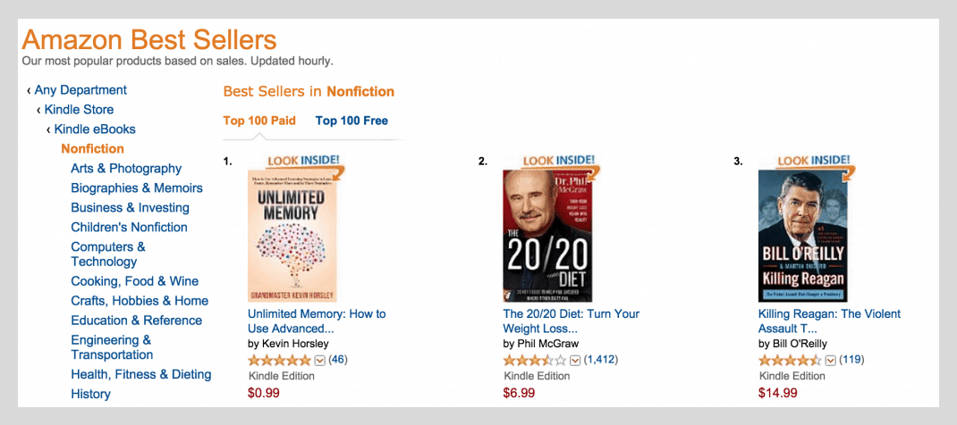 #1 nonfiction bestseller in all of Amazon Kindle Store Image