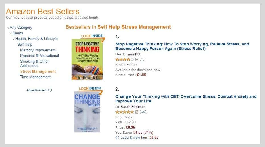 Stop Negative Thinking #1 Self Help Stress Management UK Image