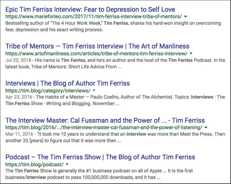 Tim ferris interview image