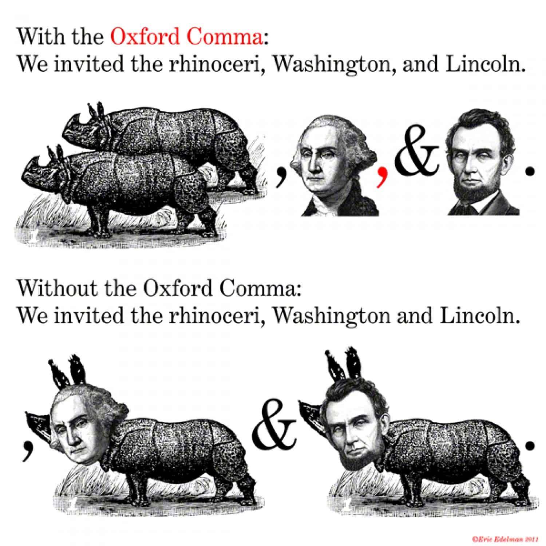 oxford comma meme image