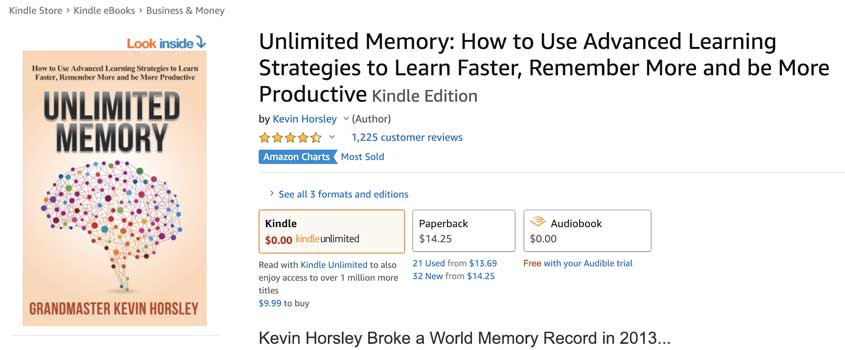 Unlimited Memory on Amazon Image