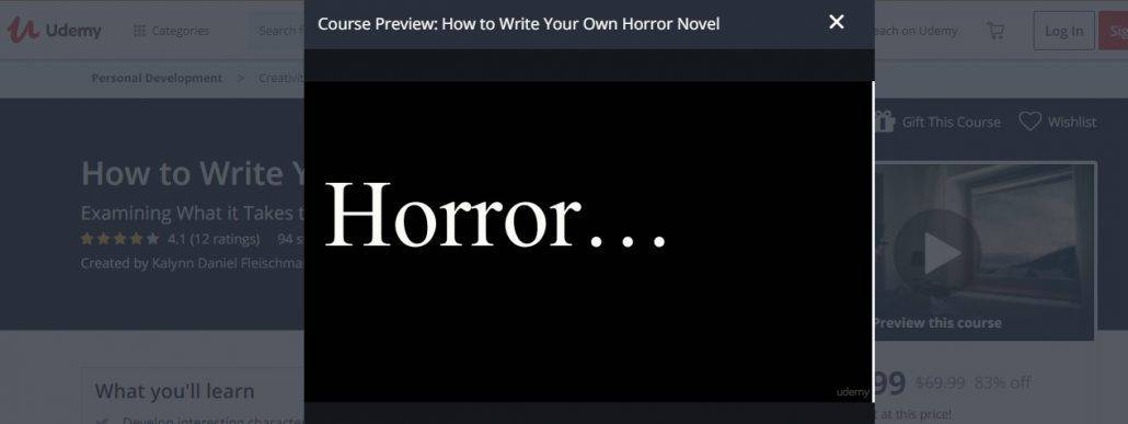How to Write Your Own Horror Novel Image