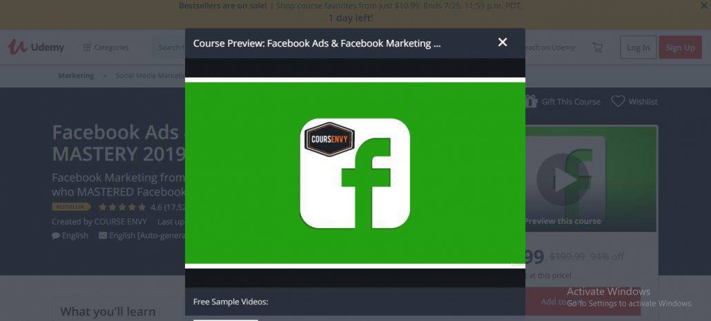 Facebook Ads and Facebook Marketing Mastery 2019 Image