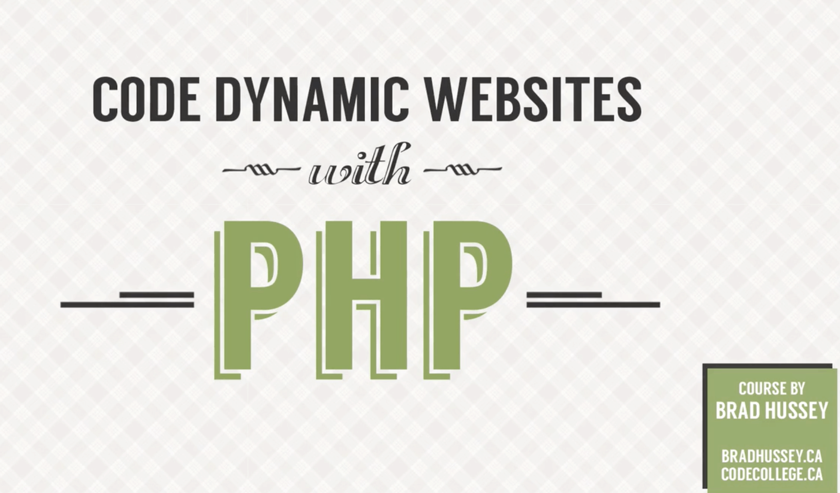 php coding course image