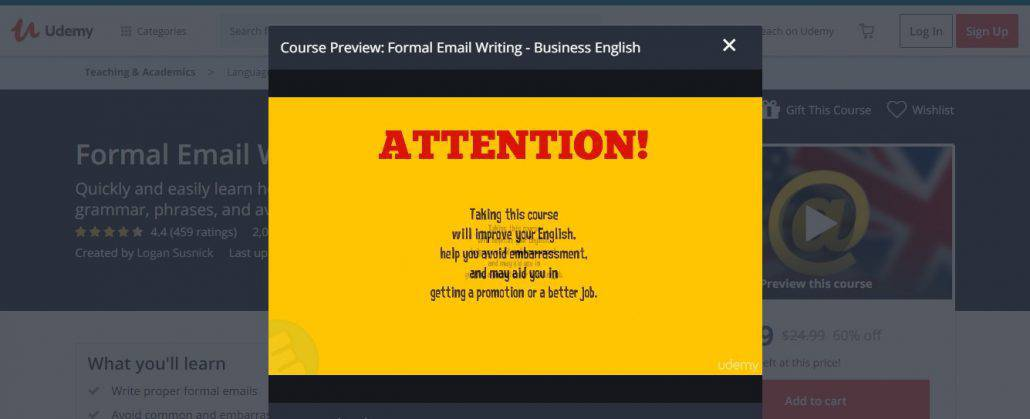 Formal Email Writing: Business English Image