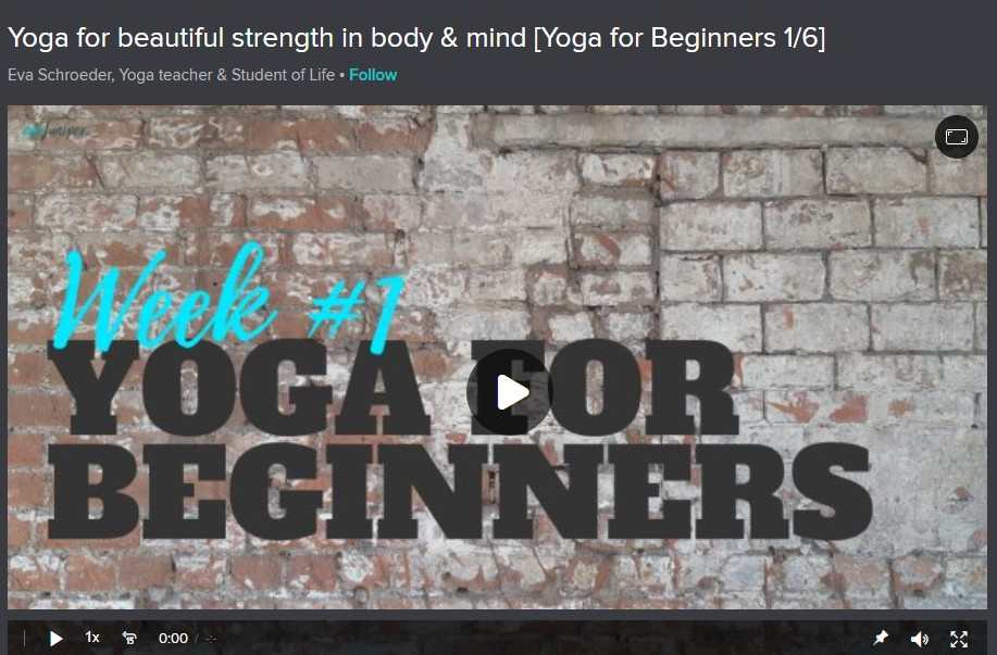 Yoga for Beautiful Strength in body & mind [Yoga for Beginners 1/6] Image