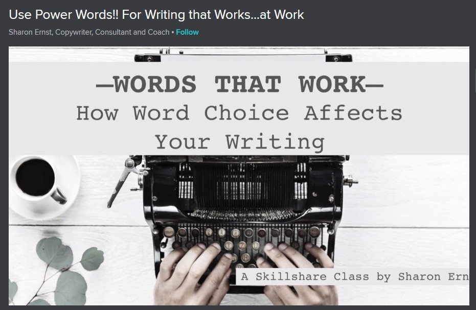 Use Power Words!! For Writing that Works...at Work Image