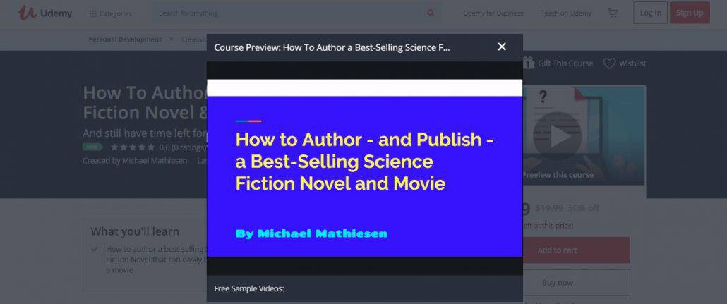 How To Author a Best-Selling Science Fiction Novel and Movie Image