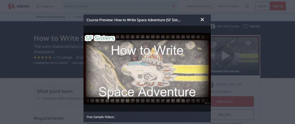How to Write Space Adventure (SF Sisters) Image