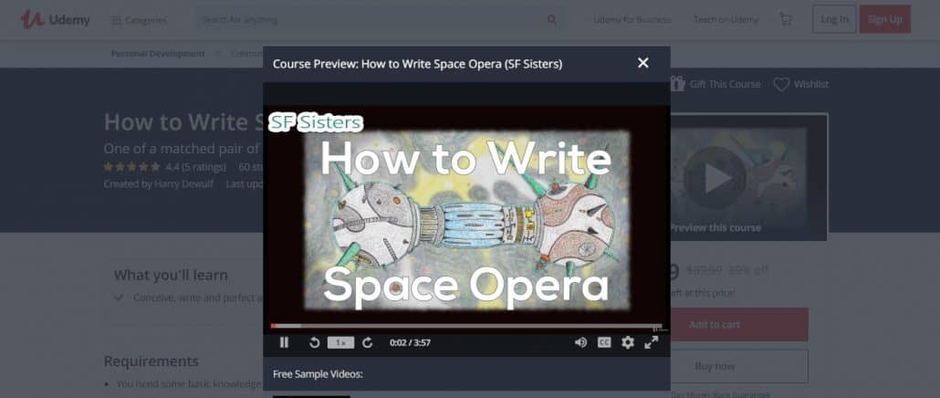 How to Write Space Opera (SF Sisters) Image