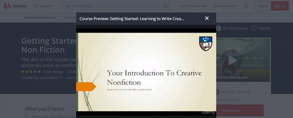 Getting Started: Learning to Write Creative Non Fiction Image