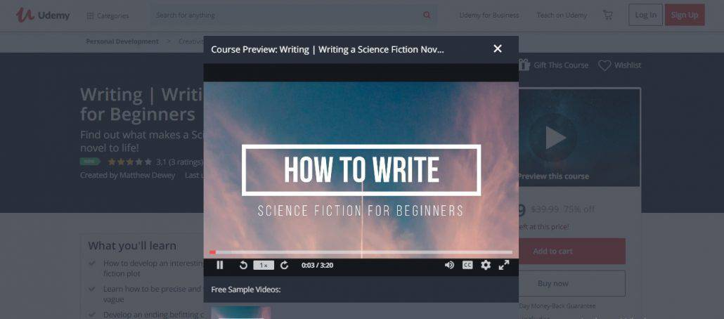 Writing a Science Fiction Novel for Beginners Image
