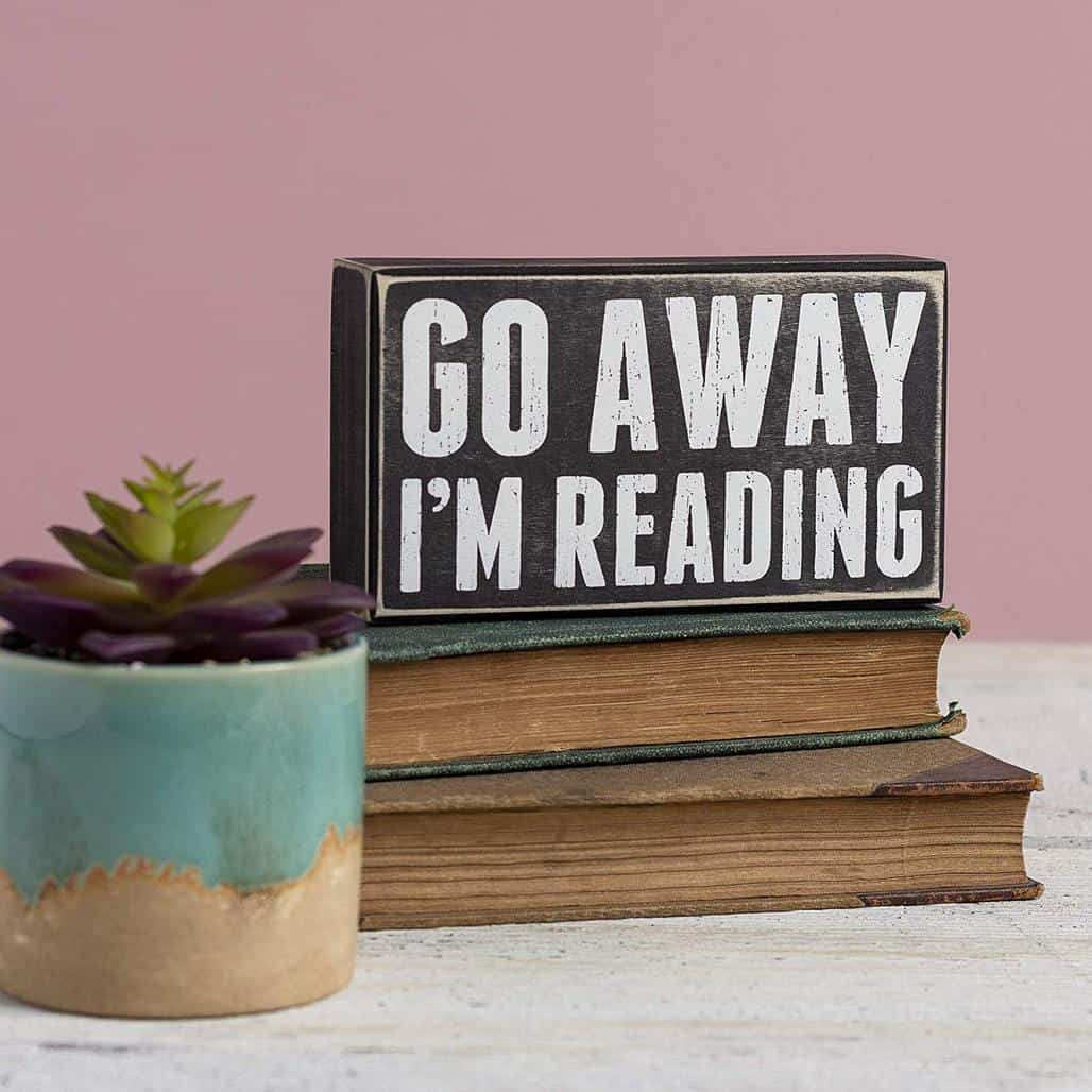 book lover sign
