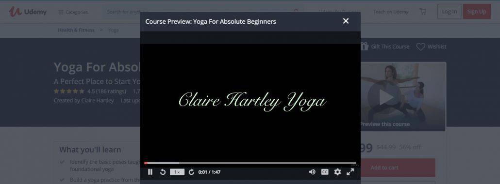 Yoga For Absolute Beginners by Udemy Image