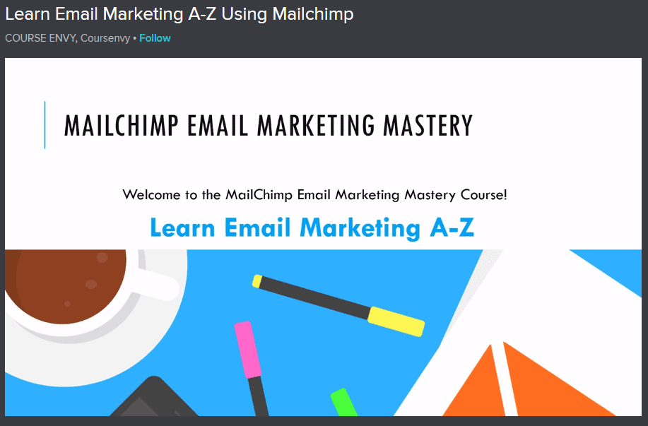 Learn Email Marketing A-Z Using Mailchimp Image