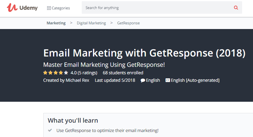 Email Marketing with GetResponse Image