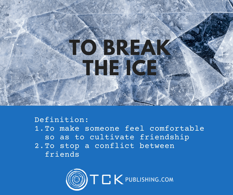 break the ice idiom image