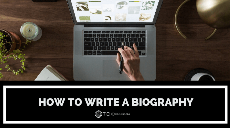 how to write a biography header image