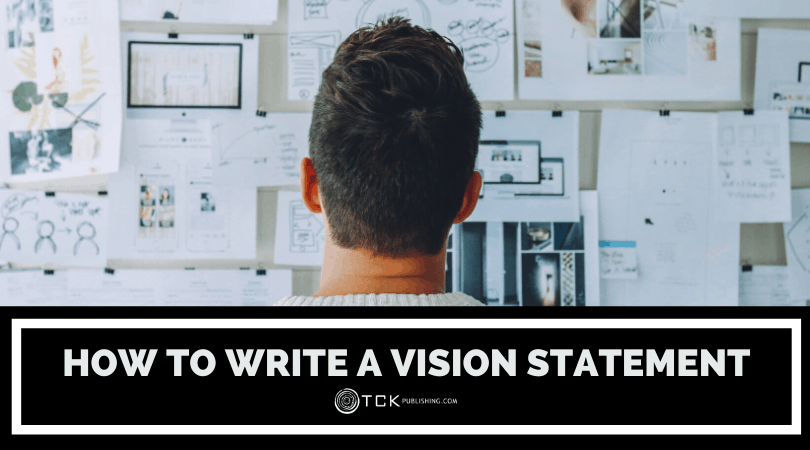 how to write a vision statement header image