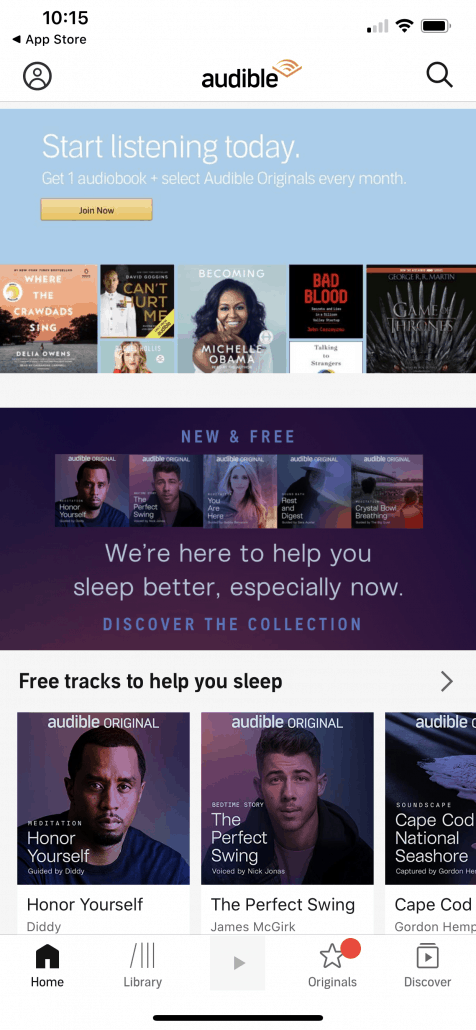 audible home screen image