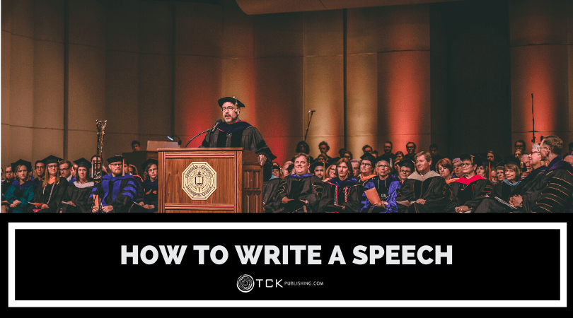how to write a speech header image