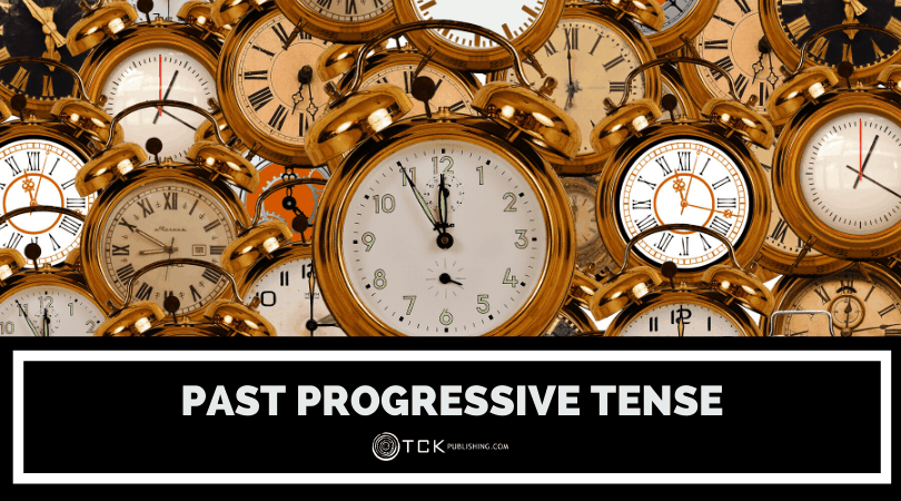 past progressive tense header image