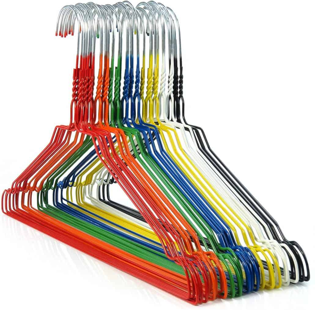 color coded hangers for organizing your closet image