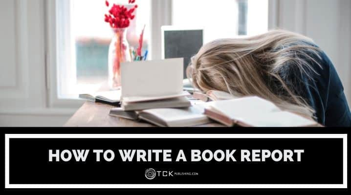 how to write a book report blog post image
