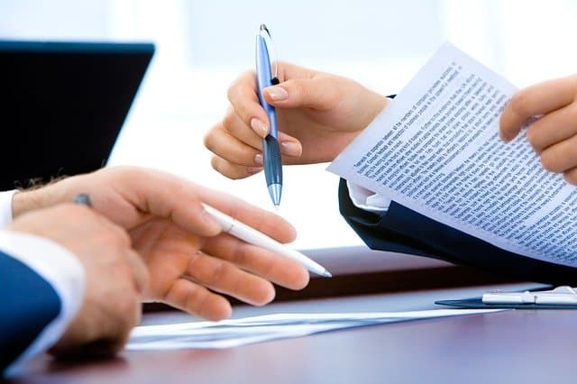 signing a contract image
