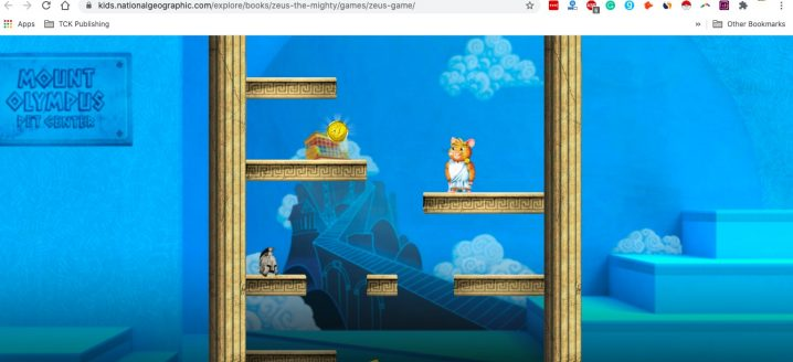 Zeus the Mighty Game Screenshot Image