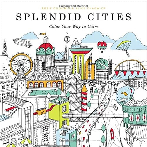 cities coloring book image