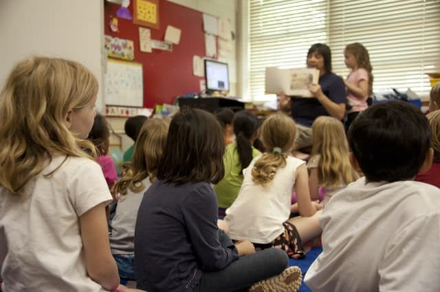 Reading a Story to Kids Image