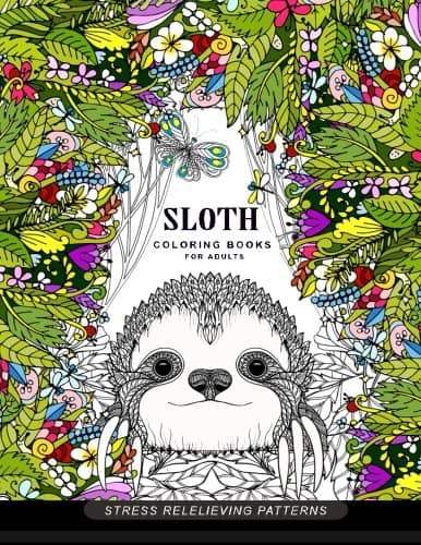 sloth coloring book image