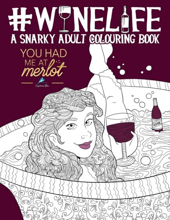 wine coloring book image